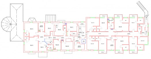 Measured survey of care home, Suffolk